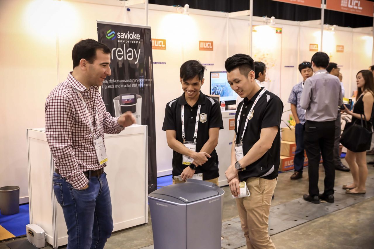 Savioke- Relay Delivers to Logistics, exhibiting their autonomous indoor delivery robot and same-day delivery