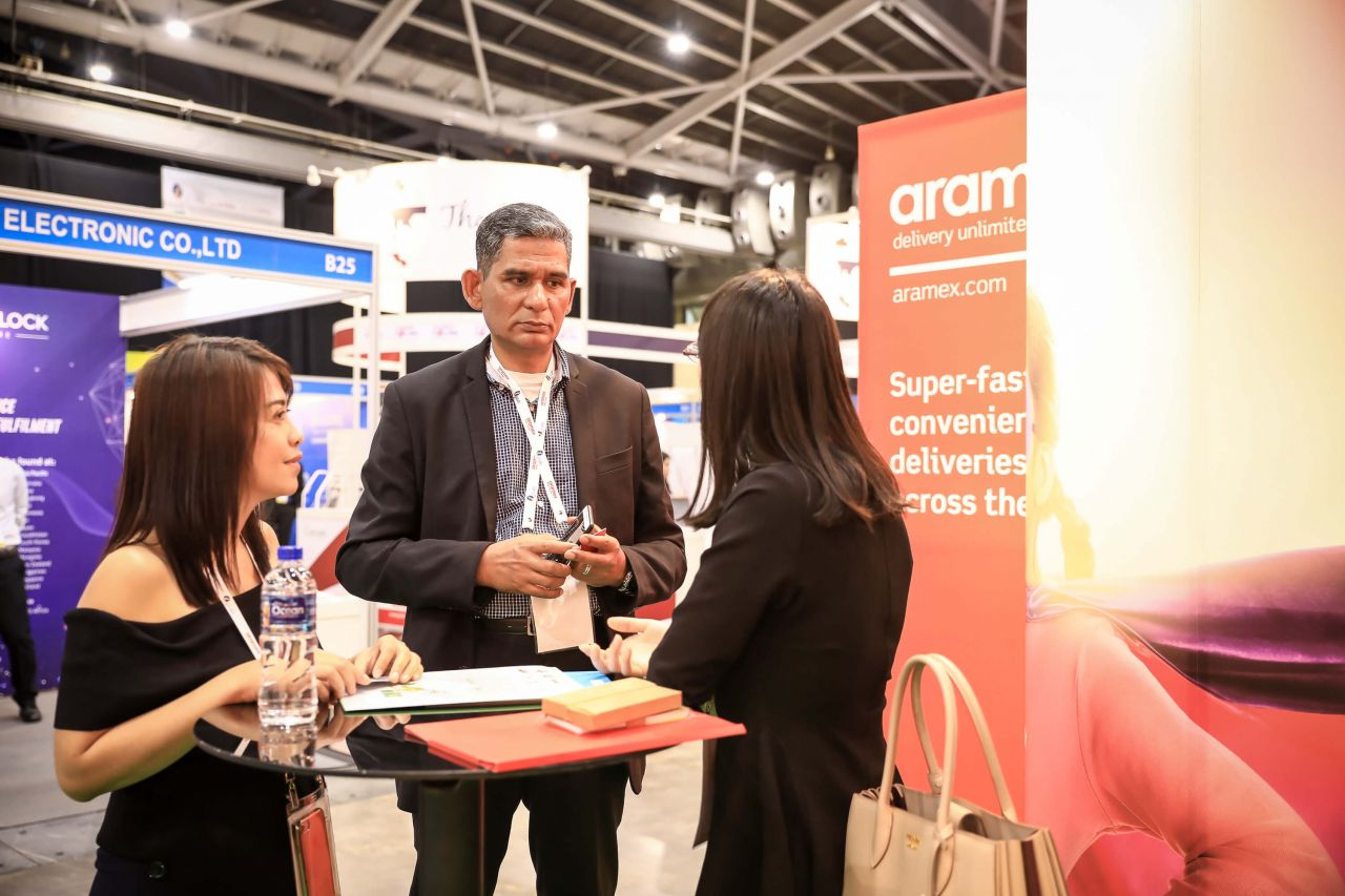 Networking activities at the LMFA On-Floor Exhibition Area discussing about SMART Delivery