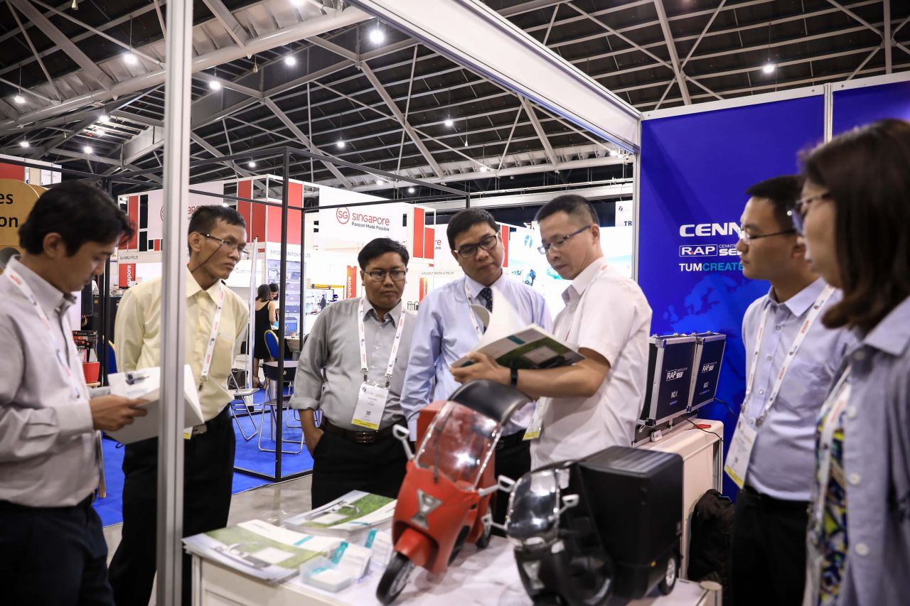 Cenntro Automotive Group showcasing their electric vehicle models in the last mile industry